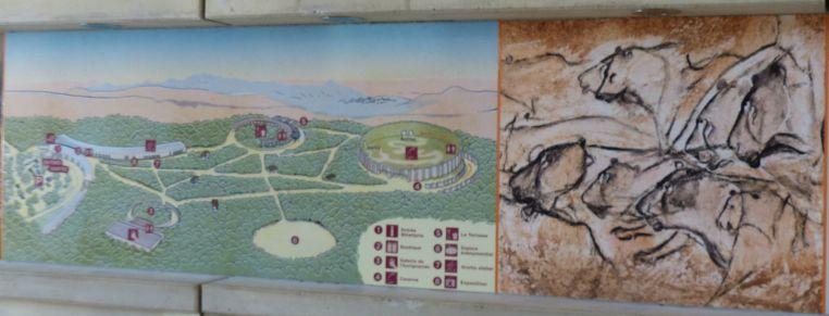 plan de la caverne du pont d'Arc