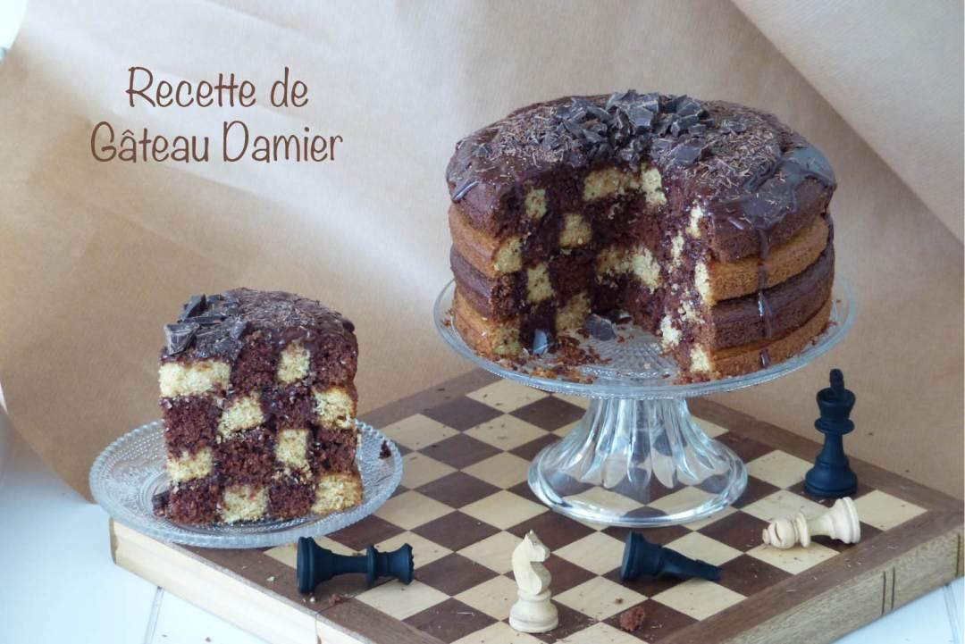 Recette de gâteau damier
