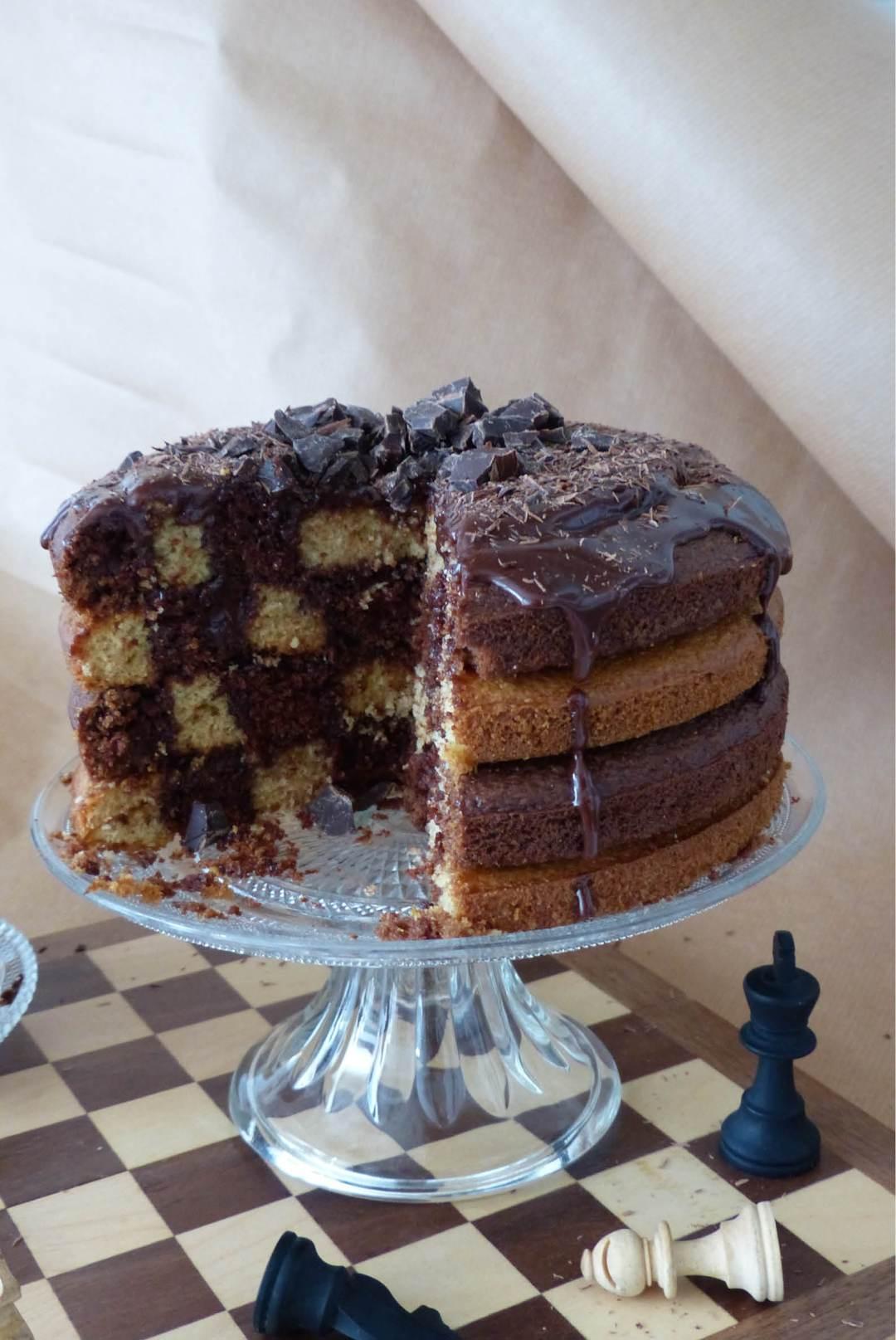 gâteau damier 2 - bidule et cocotte