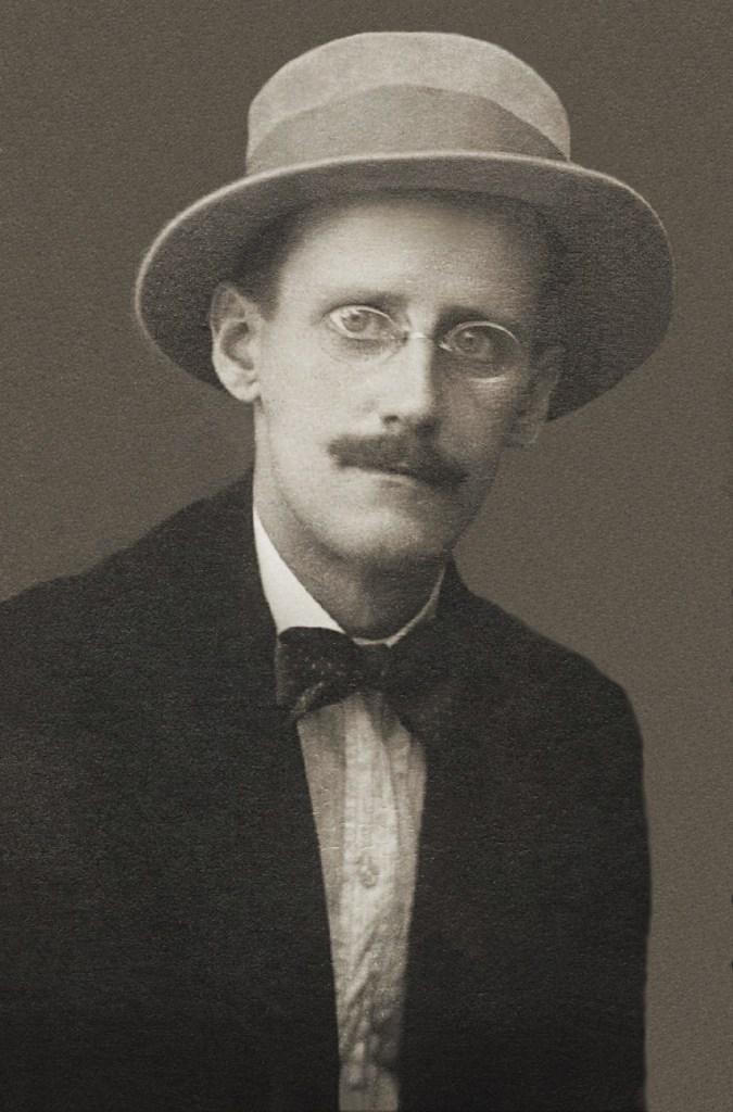 Photo of James Joyce.