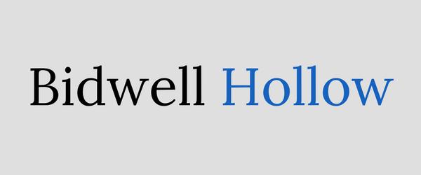 Horizontal Bidwell Hollow logo.