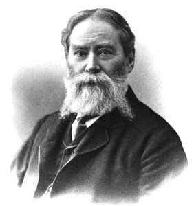 Portrait of James Russell Lowell.