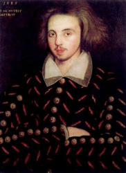 Portrait of Christopher Marlowe.
