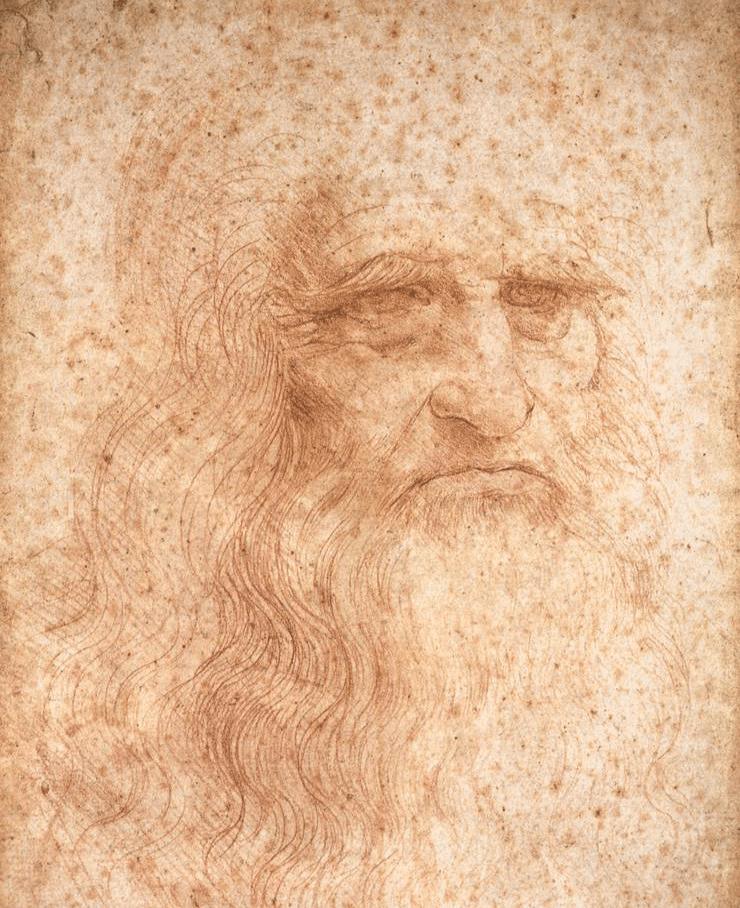 Portrait of Leonardo da Vinci.