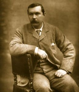 Photo of Sir Arthur Conan Doyle.