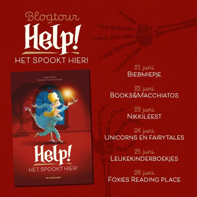 HelpHetSpooktHier blogtour - Boekentip / Help! Het spookt hier + griezelige activiteiten