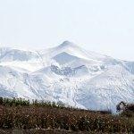 十勝岳連峰雪化粧