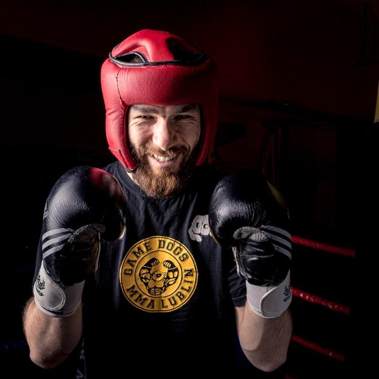 EM Krzysiek na ringu w K1 Fighting Center