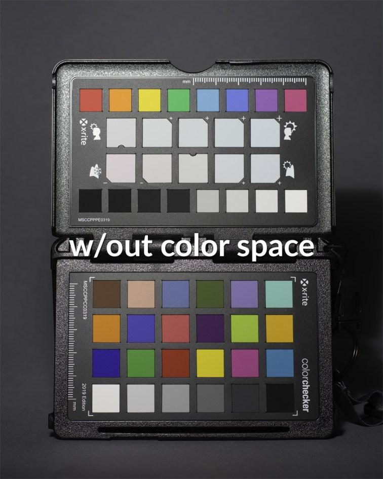 Profil wyjściowy: ProPhoto RGB, zdjęcie bezzałączonego profilu kolorów