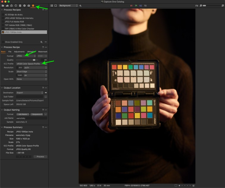 Capture One Pro ipanel Output