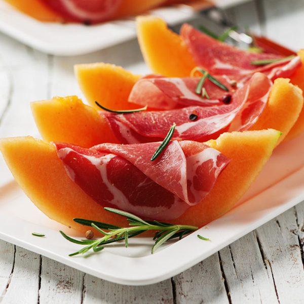 Serrano ham met meloen buffet