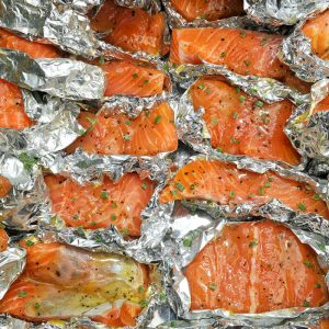zalm in folie barbecue