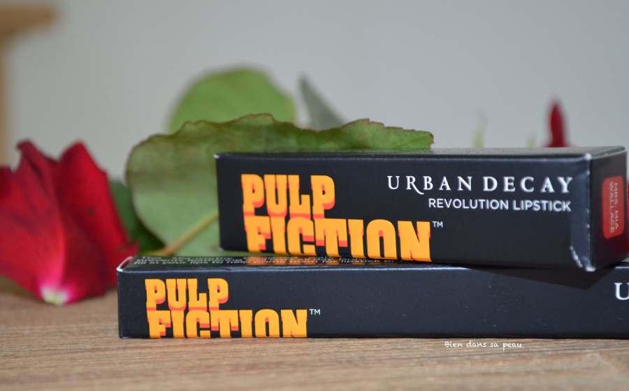 revue rouge à lèvres et crayon urban decay pulp fiction mia wallace