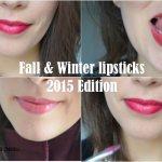Mes rouges à lèvres favoris pour l'automne-hiver 2015