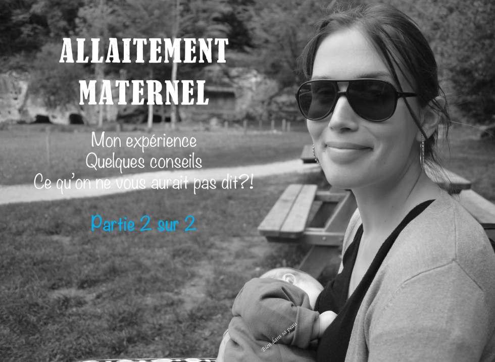 allaitement maternel mon expérience