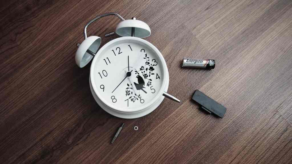 réveil cassé pour se réveiller naturellement