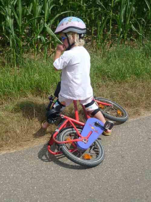 chute à vélo qui fait mal