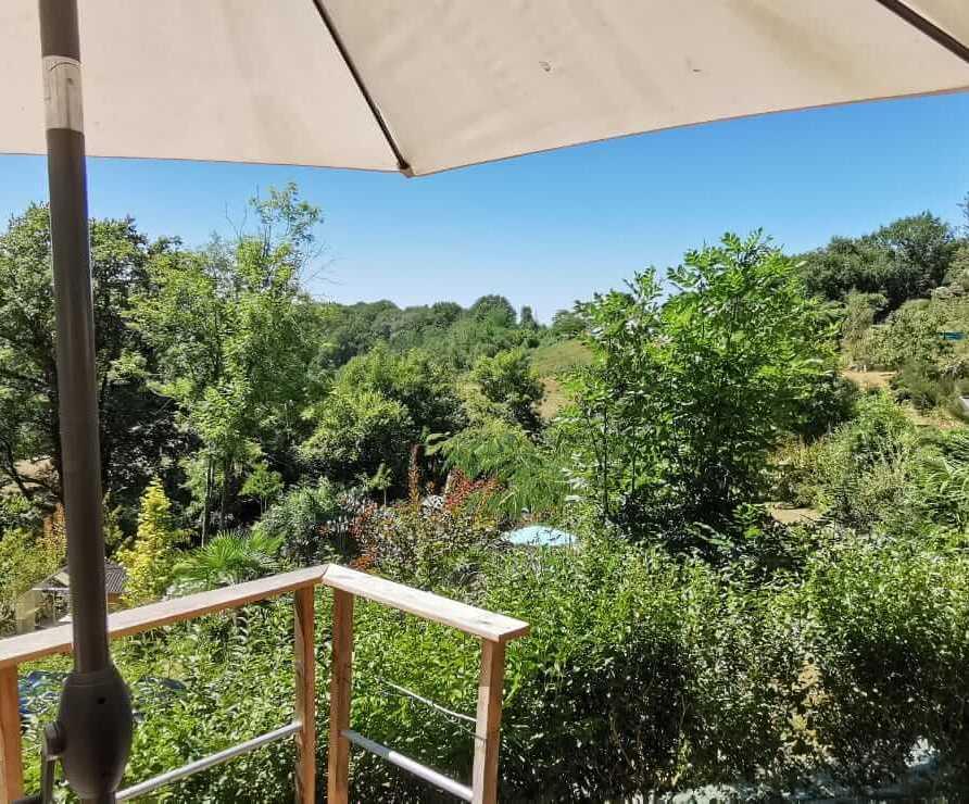 vue depuis la terrasse de la roulotte