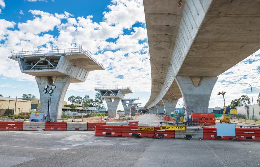 Haiti road under reconstruction