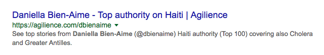 Agilience's Top 100 Authority on Haiti