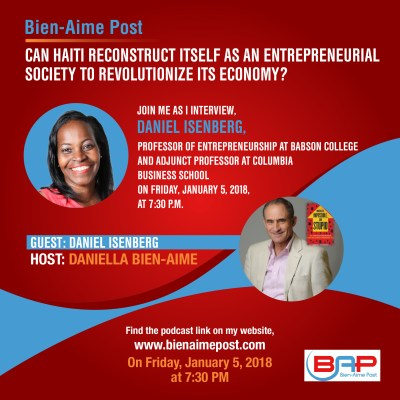 Can Haiti Reconstruct Itself as an Entrepreneurial Society to Revolutionize Its Economy?