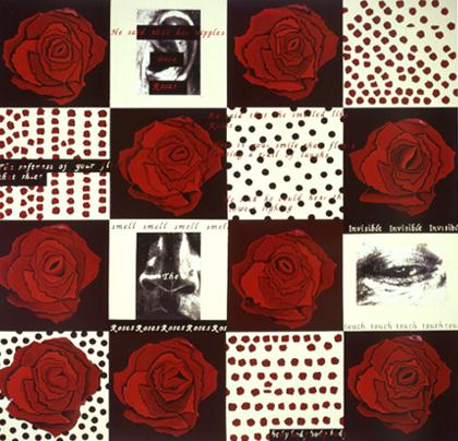 Joana Rêgo 1997 SENSES ORDNED PAINTING Acrílico s/ Tela 180 x 180 cm