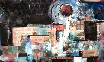 Kunio Iezumi 1978 S/ TÍTULO Pintura e colagem s/ aglomerado 107 x 178 cm
