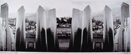 Américo Silva 2003 PROJECTO XV ARQUITECTURAS PLANOS II - II/V Fotografia 80 x 110 cm
