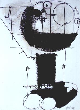 Carlos Barreira 1998 S/ TÍTULO Carvão e Acrílico 100 x 70 cm