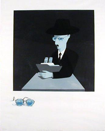 Costa Pinheiro 1980 O POETA FERNANDO PESSOA - ELE MESMO Serigrafia 93 x 73 cm