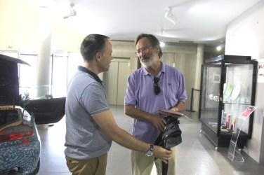 Visita de Alberto Martins, ex-deputado do Partido Socialista e antigo ministro de Sócrates e Guterres