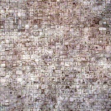 Inez Wijnhorst (NL) Sem título, 1999 Técnica mista sobre tela 180 x 180 cm Prémio Aquisição Baviera na X Bienal Internacional de Arte de Cerveira, realizada de 14 de agosto a 12 de setembro de 1999.