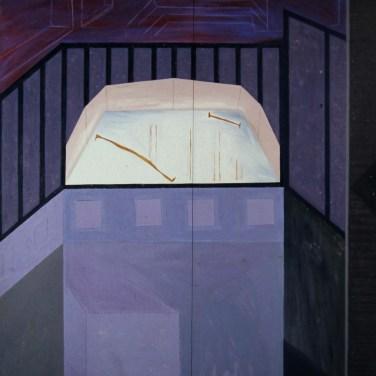 Pedro Calapez (PT) Sem título, 1986 Acrílica sobre madeira 200 x 160 cm Prémio Aquisição Pintura na V Bienal Internacional de Arte de Cerveira, realizada de 26 de julho a 7 de setembro de 1986.