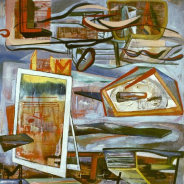 Pedro Manuel Casqueiro (PT) Sem título, 1986 Técnica mista sobre tela 186 x 178 cm Prémio Aquisição Pintura na V Bienal Internacional de Arte de Cerveira, realizada de 26 de julho a 7 de setembro de 1986.