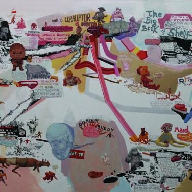 Ricardo Angélico (PT) Toy Stories, 2016-17 Acrílica sobre tela 87 x 144 cm Prémio Aquisição Câmara Municipal de Vila Nova de Cerveira na XIX Bienal Internacional de Arte de Cerveira, realizada de 15 julho a 16 de setembro de 2017.