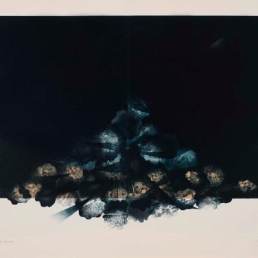 Yoshito Arichi (JP) Lost shape. Blue Silent, 2013 Gravura sobre papel 93 x 120 cm