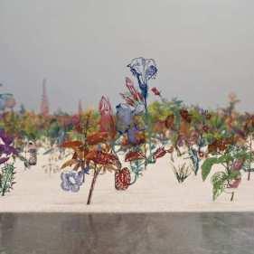 Detail of Zadok Ben David installation at Shoshana Wayne Gallery.