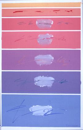 Eurico Gonçalves 2003 AQUÉM E ALÉM DESERTO Pintura s/ Tela 146 x 97 cm
