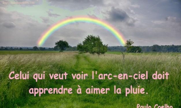 Celui qui veut voir l'arc-en-ciel doit apprendre à aimer la pluie