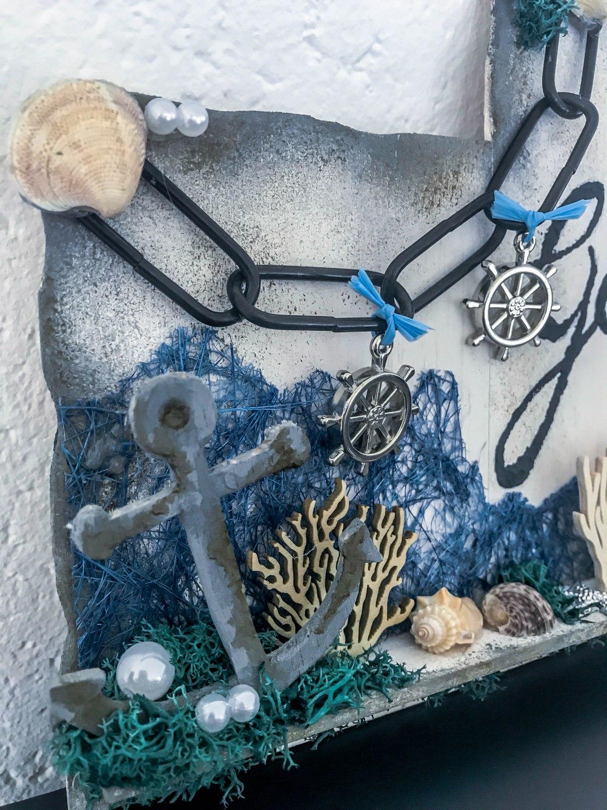 Toilettenschild in Unterwasserwelt Optik