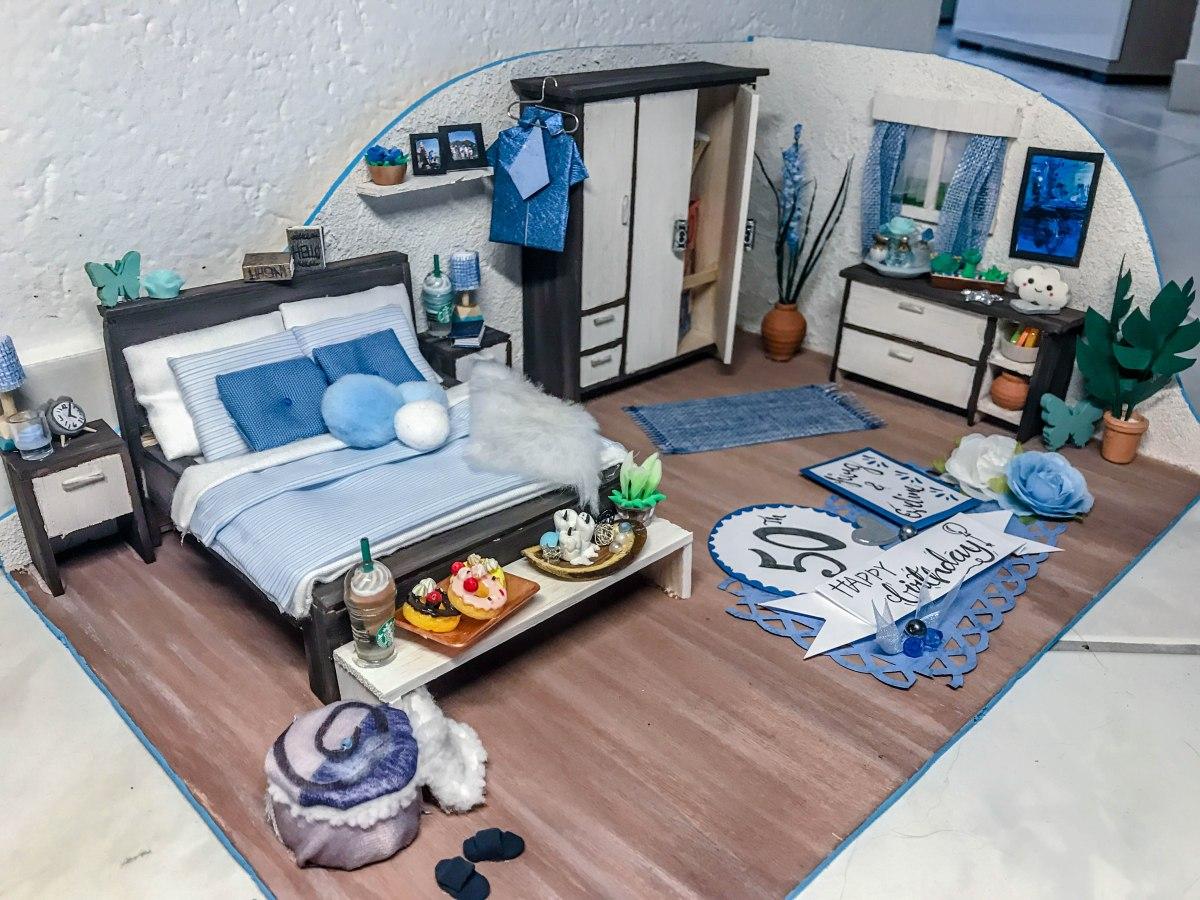 DIY Geldgeschenk - Mini Schlafzimmer