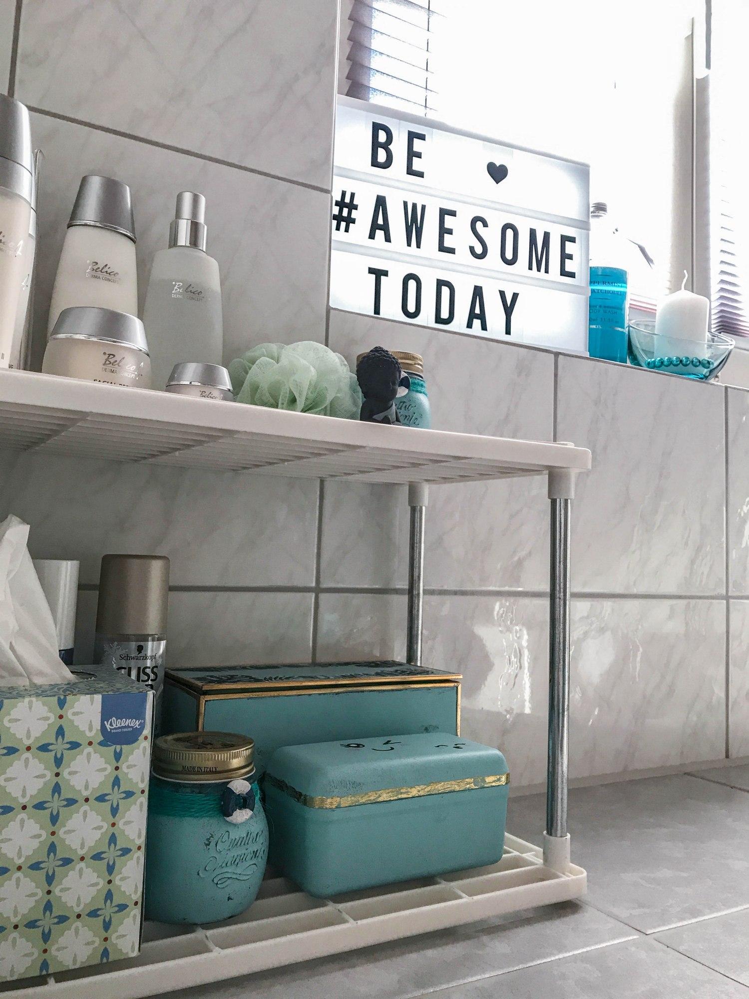 DIY Badezimmer Aufbewahrung - Bienchen