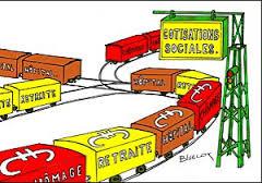 train de charges