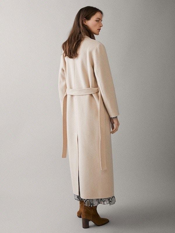 Manteau camel femme massimo dutti