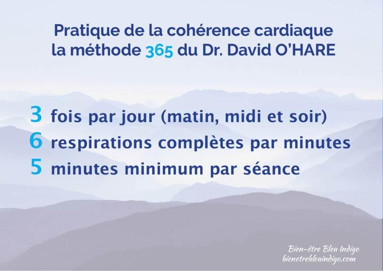 pratique de la cohérence cardiaque 365 david o'hare