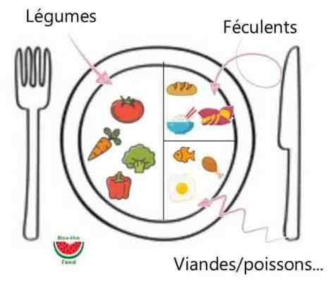 Avoir une assiette équilibrée sans compter les calories