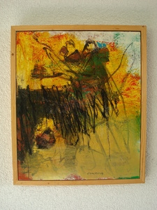 Hannes Neuhold, Flucht nach Ägypten, 60 x 70 cm, Mischtechnik auf Leinwand