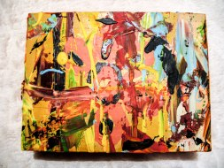 Herwig Maria Stark, ART CUBE 1/17, size 15 x 20 x 6 cm, Mixed media on wooden cube