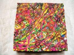 Herwig Maria Stark, ART CUBE 3/10, size 20 x 20 x 6 cm, Mixed media on wooden cube