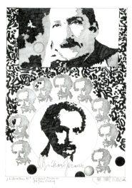 Herbert Bauer, LIBRETTO, Orig. Graphitstiftzeichnung, 30 x 21 cm, 2014